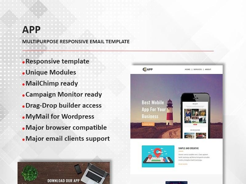 APP - Multipurpose Responsive Newsletter Template