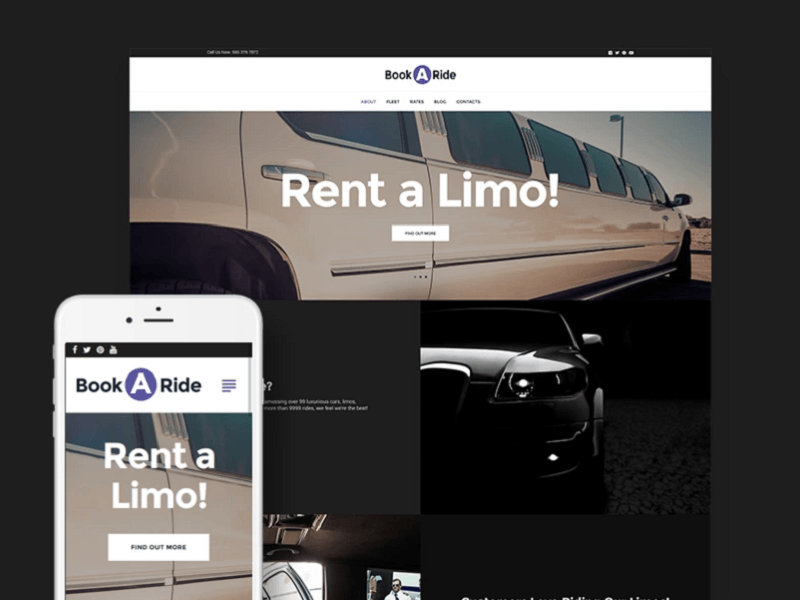 WordPress theme for limousine rental