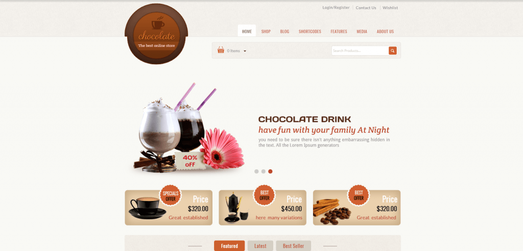 Chocolate - Cake Store WooCommerce Theme