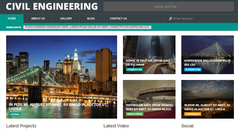 Civil Engineering WordPress Theme