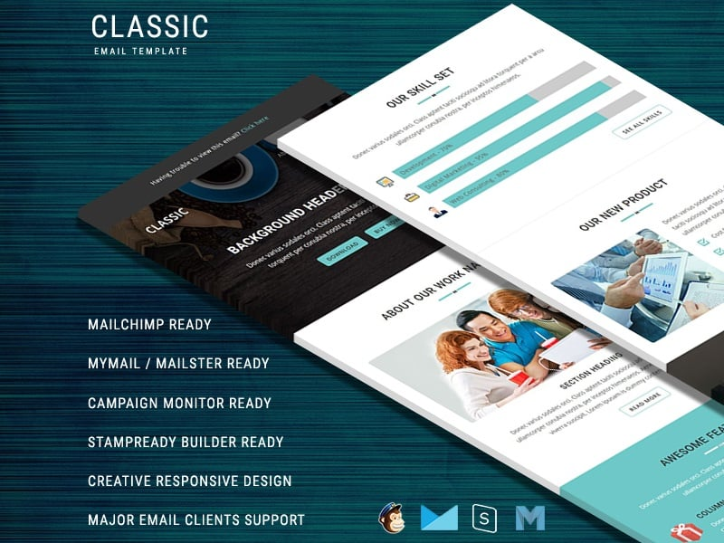 Classic - Responsive Email Template Newsletter Template