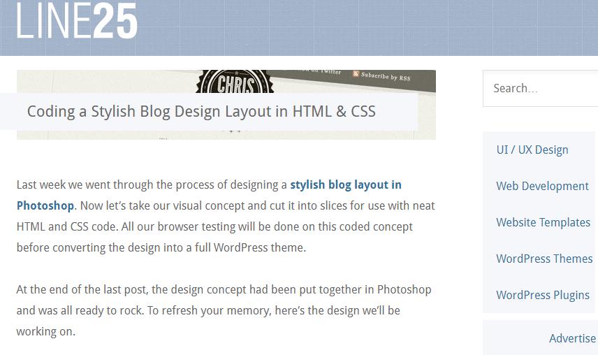 Coding a Stylish Blog