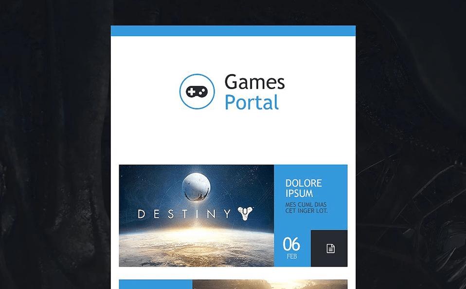 Game Portal Responsive Newsletter Template