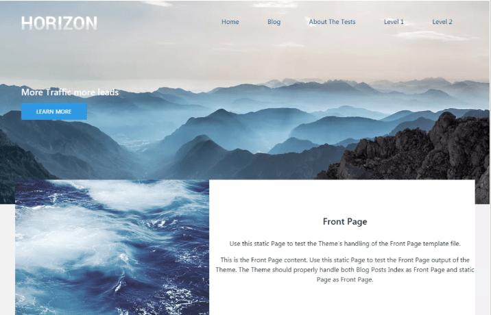 Horizzon WordPress Theme
