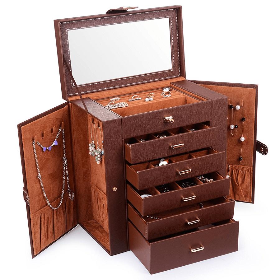 Huge Leather Jewelry Box