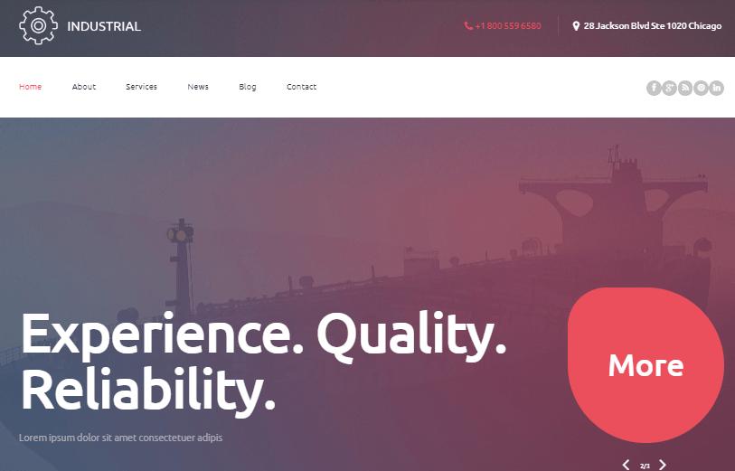 Industrial WordPress Theme