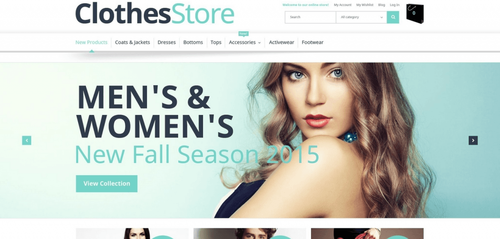 Clothes Store - Free Magento 1.9 Template