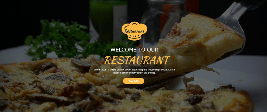 Restaurant Unbounce Template