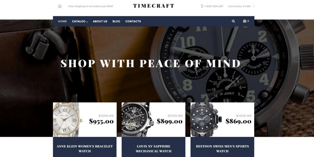 Timecraft VirtueMart Template