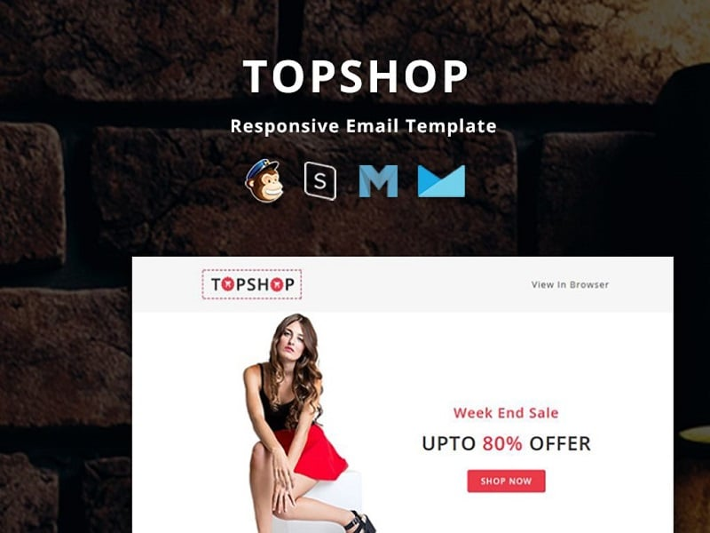 TopShop - Responsive Email Newsletter Template