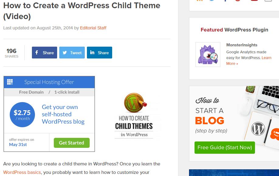 WordPress Child Theme (Video)