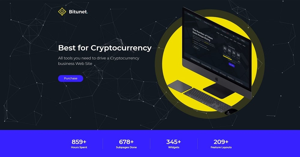 Bitunit - Cryptocurrency Elementor WordPress Theme