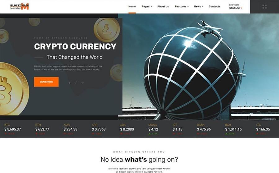 Blockchain technology - Website Template