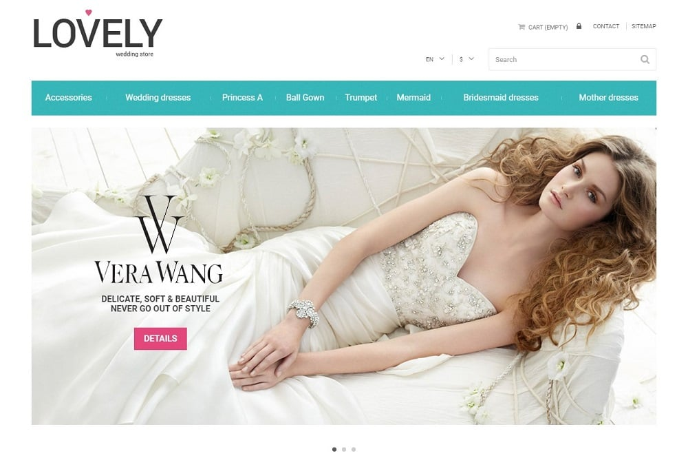 Free Wedding Shop PrestaShop Template