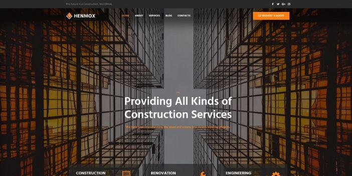 Henmox - Construction Multipurpose Modern Elementor WordPress Theme