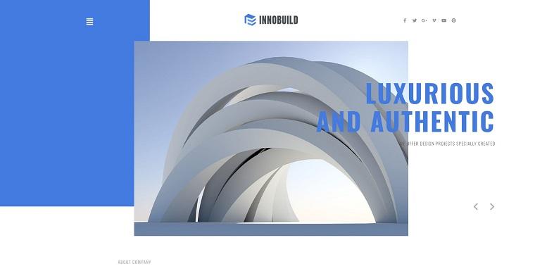 Innobuild - Solid And Reliable Architecture Design WordPress Theme.