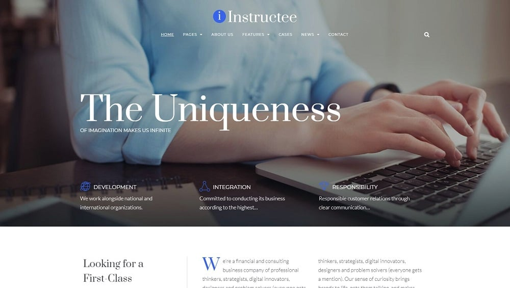 Instructee - Consulting Services Elementor WordPress Theme