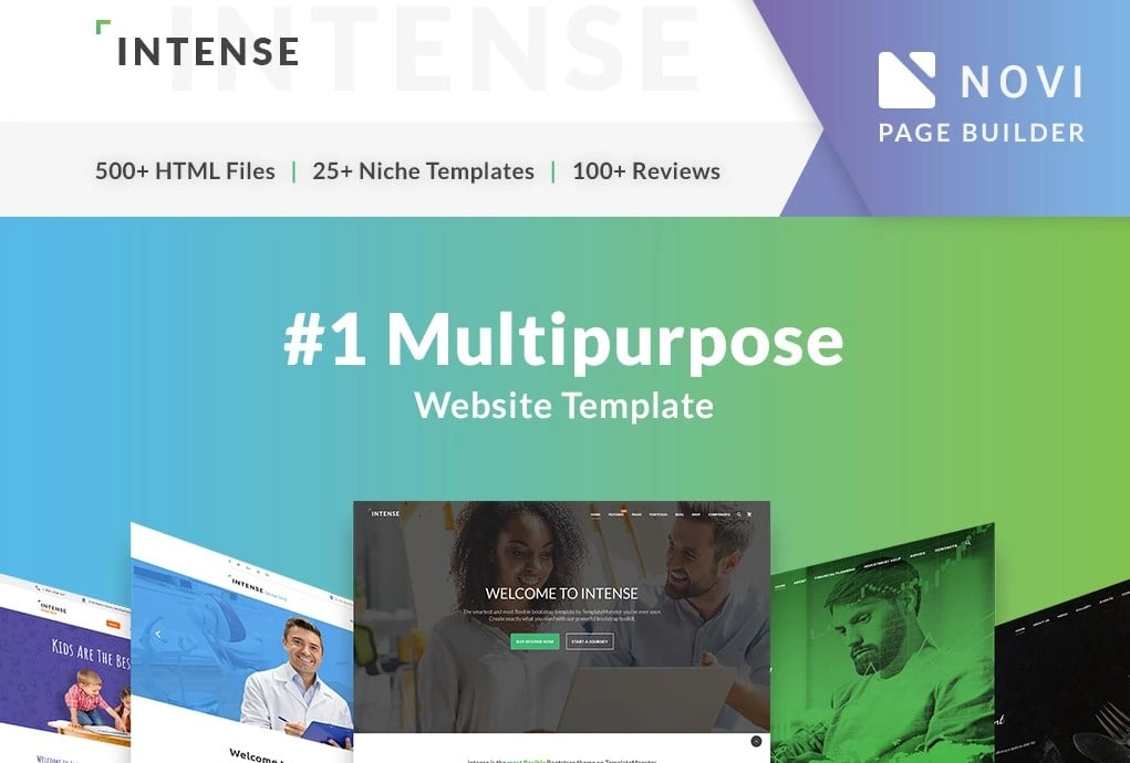 Intense Multipurpose Website Template