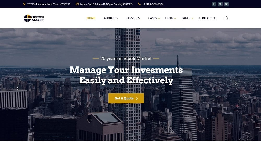 Investment Smart - Solid Investment Agency Multipage HTML Website Template