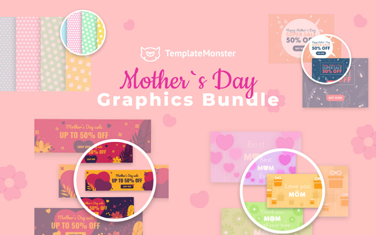 Mother Day Graphics Bundle.