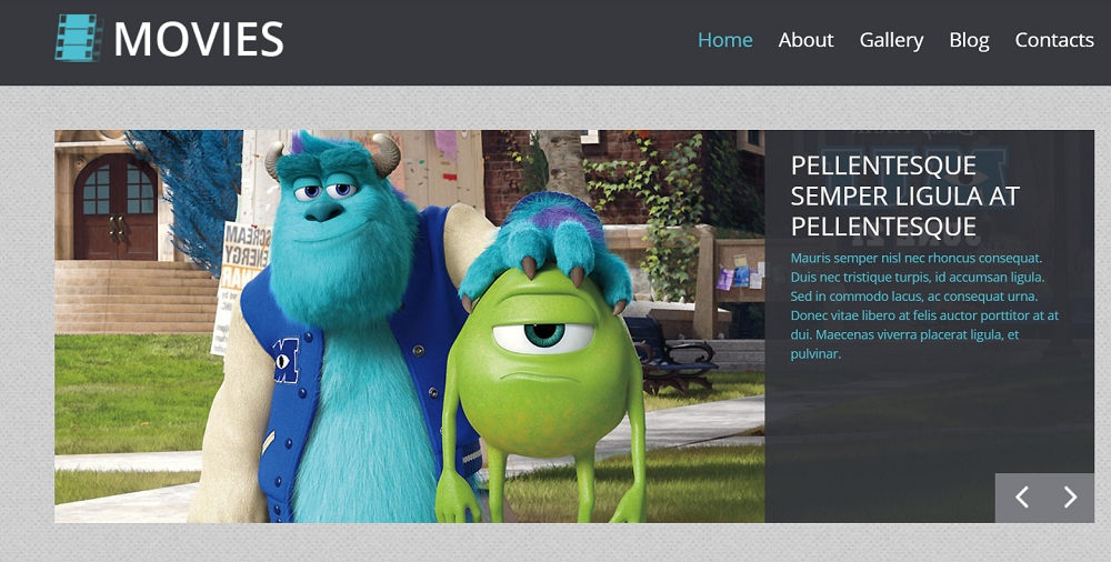Movie Template WordPress Theme