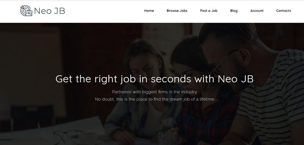 NeoJB - Modern Job Board Elementor WordPress Theme