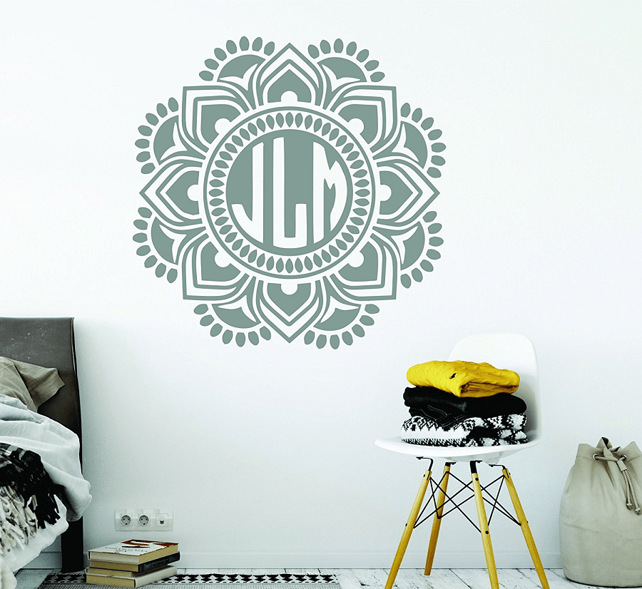 Mandala Monogram Stickers