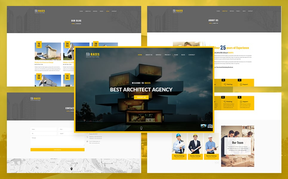 Raees - Responsive Architecture / Architect Website Template