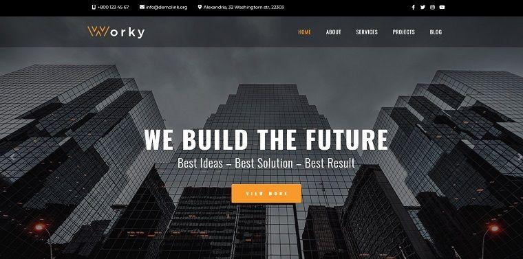 Worky - Architectural Bureau Multipurpose Modern Elementor WordPress Theme