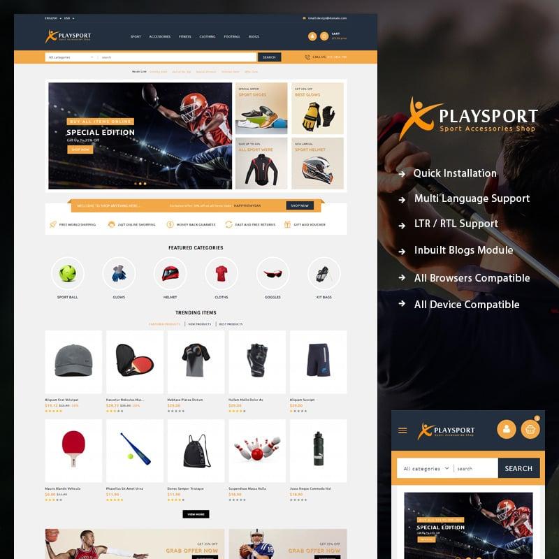 Sport Accessories PrestaShop Theme