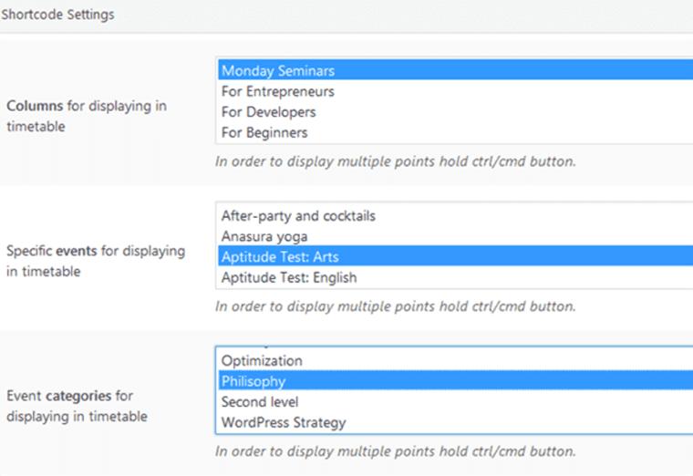 WordPress table plugin.
