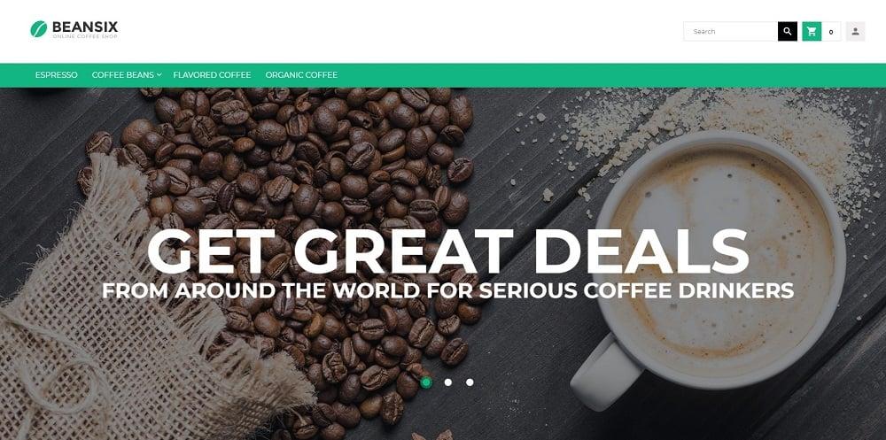 Beansix - Coffee Shop Magento Theme