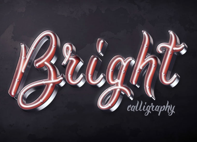 Bright Calligraphy PSD Font.
