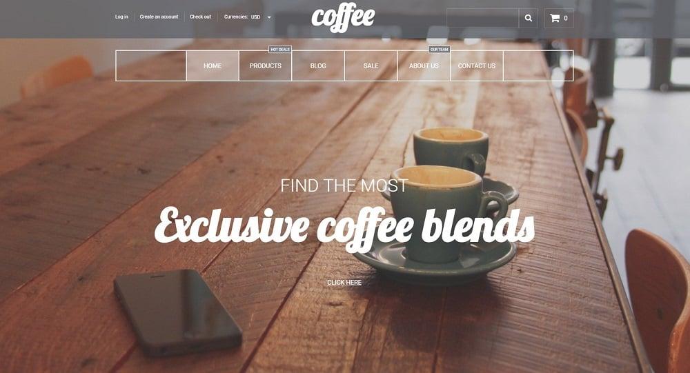 Coffee House Shopify Theme