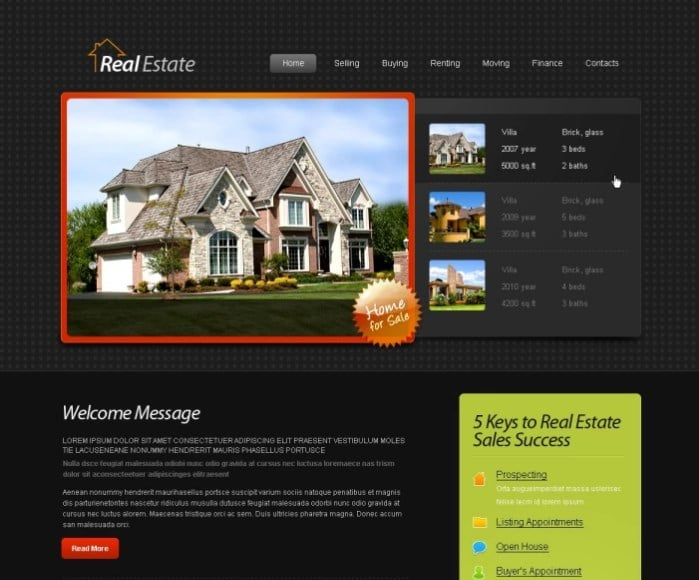 Free HTML5 Template - Real Estate Website Website Template