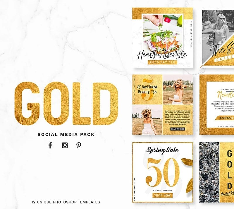 GOLD Pack Social Media
