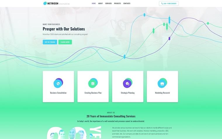 Metricon - Corporate Business Elementor WordPress Theme