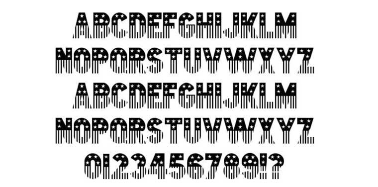 Stars & Stripes Font.