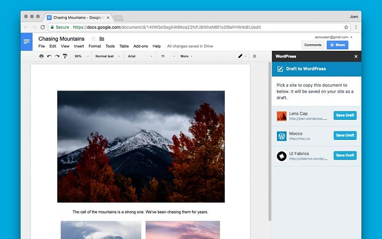 WordPress.com for google docs.