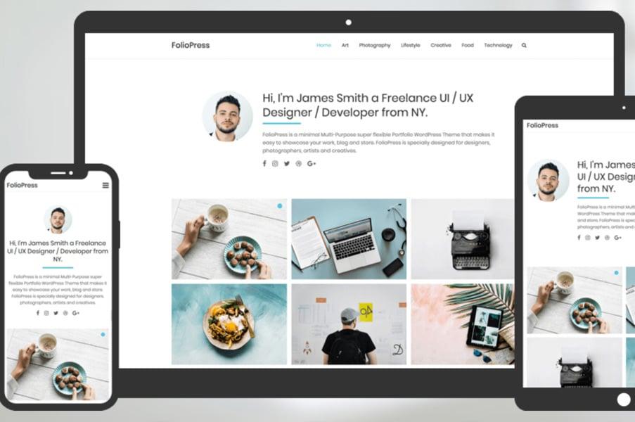 FolioPress Multi-Purpose Portfolio WordPress Theme