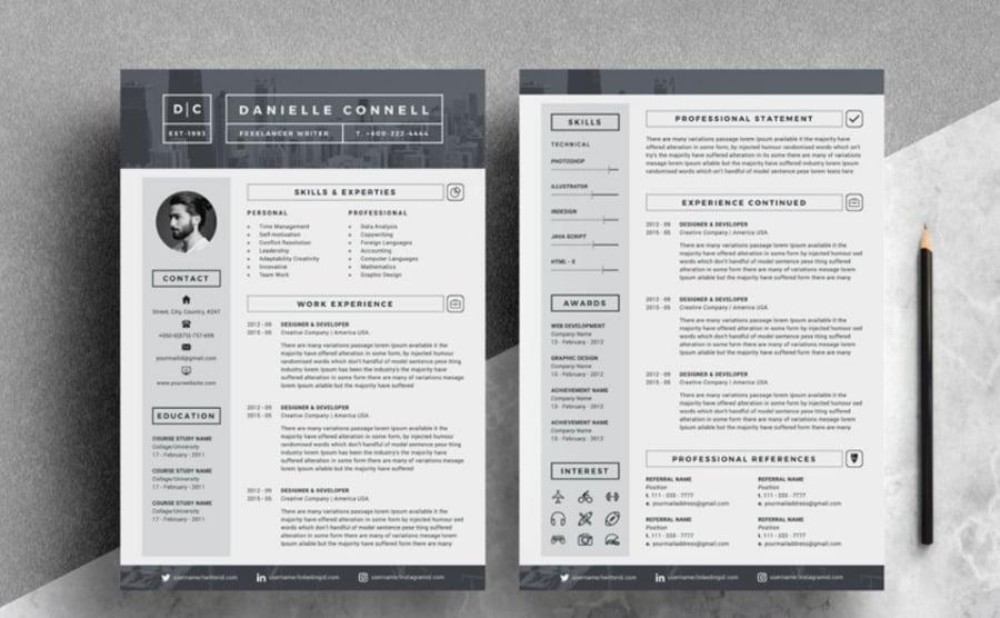 CV designs beautiful resume templates image