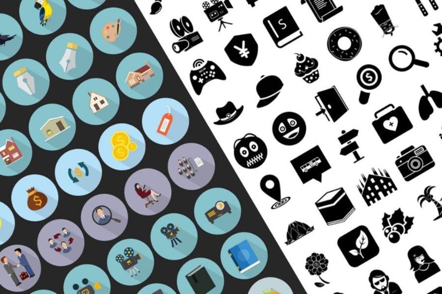 Icons set design bundle image