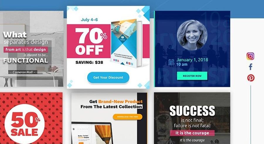 social media images graphic design bundle image
