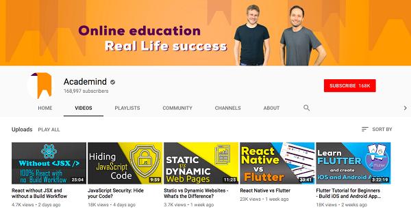 50 YouTube Channels For Learning Basic Frontend Development