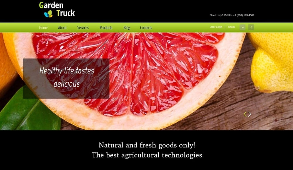 Free Website Template for Agriculture Site