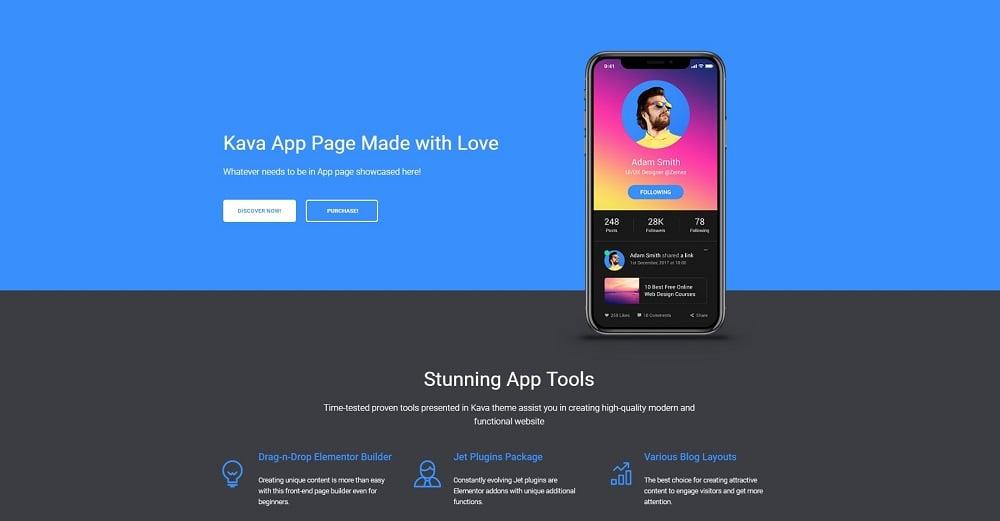 Appsine - Mobile Application Jet Elementor Template