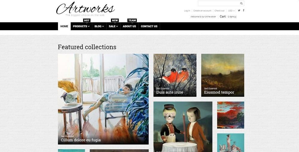 Art Web Responsive Shopify Theme