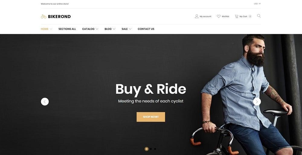 BikeRond - Bike Shop Responsive Shopify Theme