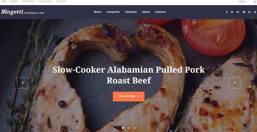 Blogetti - Restaurant Blog WordPress Theme