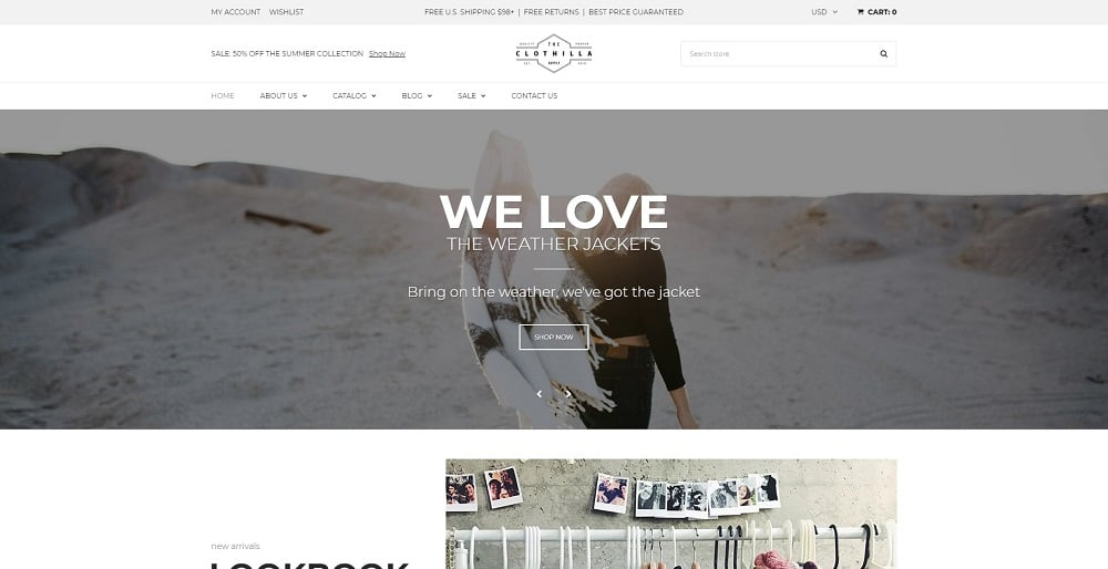Clothilla - Clothing Store Shopify Theme